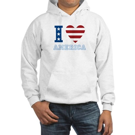 I Love America Hooded Sweatshirt
