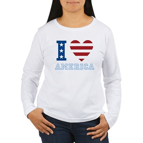 I Love America Women's Long Sleeve T-Shirt