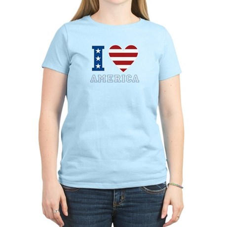 I Love America Women's Light T-Shirt