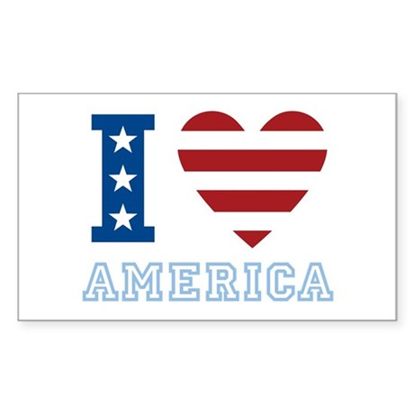 I Love America Rectangle Sticker
