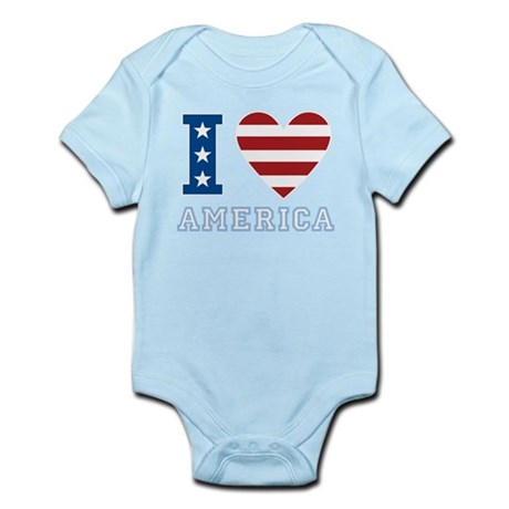 I Love America Infant Bodysuit