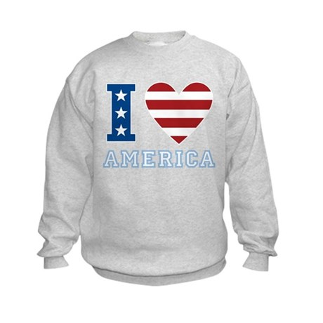 I Love America Kids Sweatshirt