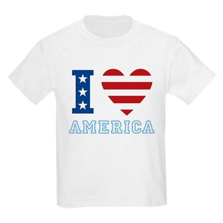 I Love America Kids Light T-Shirt