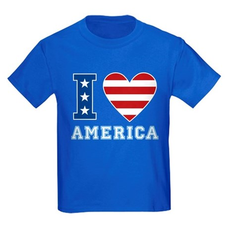 I Love America Kids Dark T-Shirt