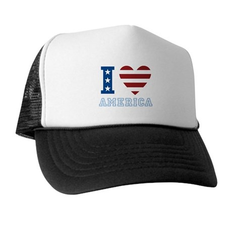 I Love America Trucker Hat