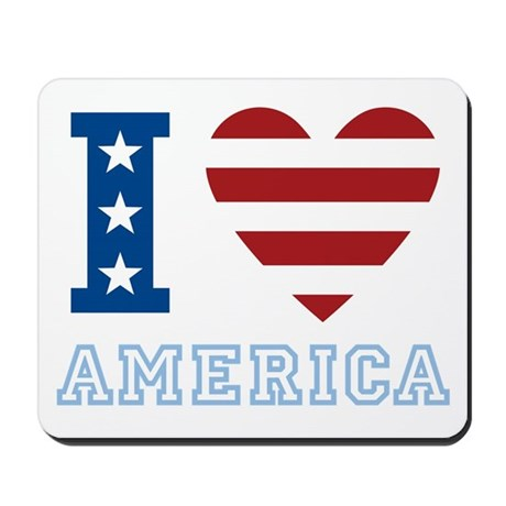 I Love America Mousepad