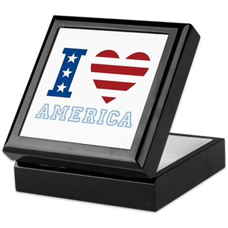 I Love America Keepsake Box
