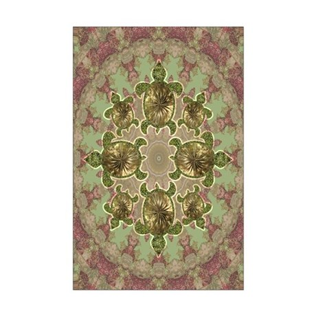 Garden Turtles Mini Poster Print