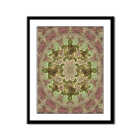 Garden Turtles Framed Panel Print