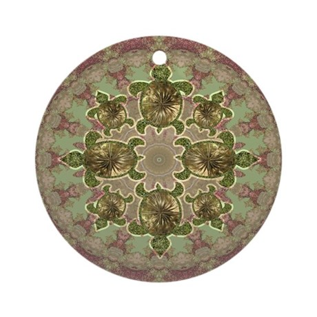 Garden Turtles Ornament (Round)