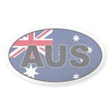 Australian Flag Oval Decal