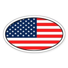USA Patriotic Oval Decal