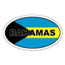 Bahamas Flag Oval Decal