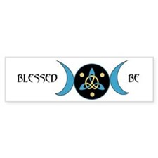 Blue Blessed Be Goddess Symbol Bumper Bumper Sticker