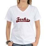 Forks Baseball Women's V-Neck T-Shirt
