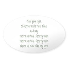 No Place Key West Oval Decal