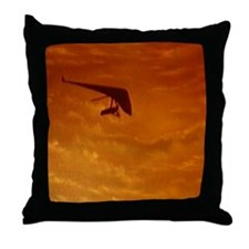 Unique Hanggliding Throw Pillow