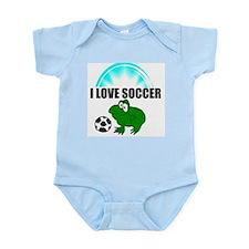 i love soccer  Infant Creeper