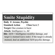 SmiteStupidity Rectangle Decal