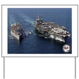 USS Enterprise CVN-65 Yard Sign