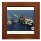 USS Enterprise CVN-65 Framed Tile