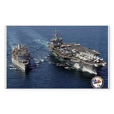 USS Enterprise CVN-65 Rectangle Sticker 10 pk)