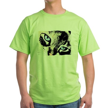 Ink Cat Green T-Shirt