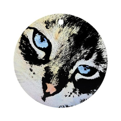 Ink Cat Ornament (Round)