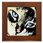 Ink Cat Framed Tile