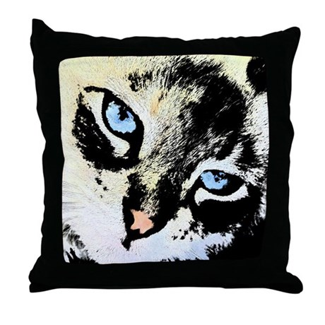 Ink Cat Throw Pillow