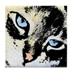 Ink Cat Tile Coaster