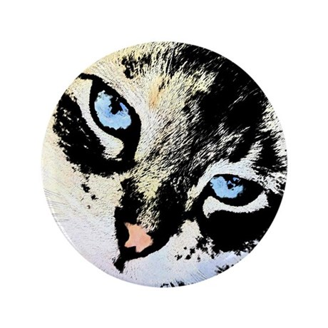 "Ink Cat 3.5"" Button"