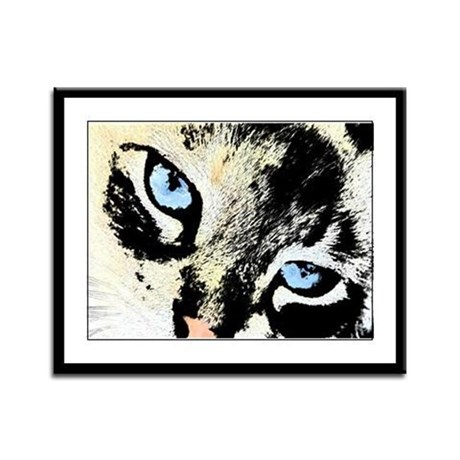 Ink Cat Framed Panel Print