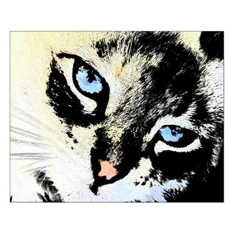 Ink Cat Small Poster
