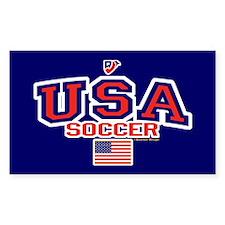 USA American Soccer Decal