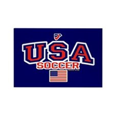 USA American Soccer Rectangle Magnet (10 pack)