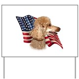 Poodle (Apr) Flag Yard Sign