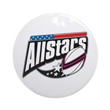 Rugby All Stars Ornament (Round)