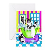 Boston Terrier TubFull Greeting Cards (Pk of 20)