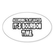 """It's Bourbon Time"" Oval Sticker (10 pk)"