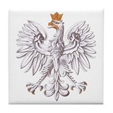 Polish White Eagle Tile Coaster