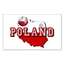 Polish Flag Map Stickers