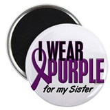 "I Wear Purple For My Sister 10 2.25"" Magnet (10 pa"