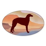 Mountain Mirage Borzoi Oval Decal