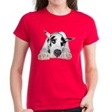 Great Dane Shy Harlequin Tee