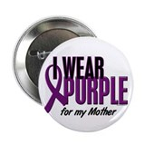 "I Wear Purple For My Mother 10 2.25"" Button (100 p"
