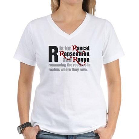 R is for Rascal Women's V-Neck T-Shirt