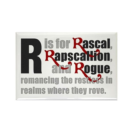 R is for Rascal Rectangle Magnet