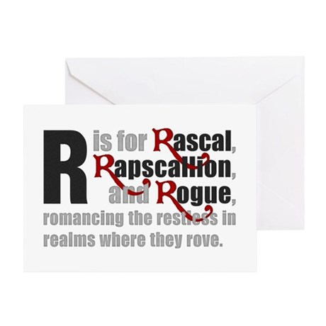 R is for Rascal Greeting Card