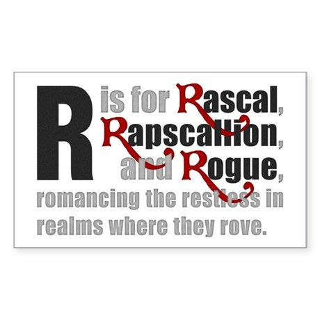R is for Rascal Rectangle Sticker
